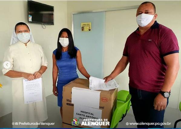 SEMSA e Defesa Civil realizam entrega de máscaras ao HSA